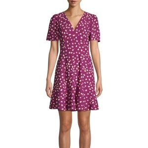 NWT Kate Spade NY Mallow Dot Crepe A-line Dress 4